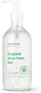 AROMATICA 95% Organic Aloe Vera Gel 10.14oz / 300ml | EWG Verified | Soothing, Cooling, Moisturizing | For ...