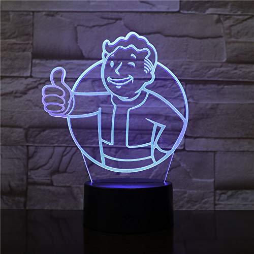 LED-Lampe für Vault Boy Fallout, Farbwechsel, USB, Nachtlicht