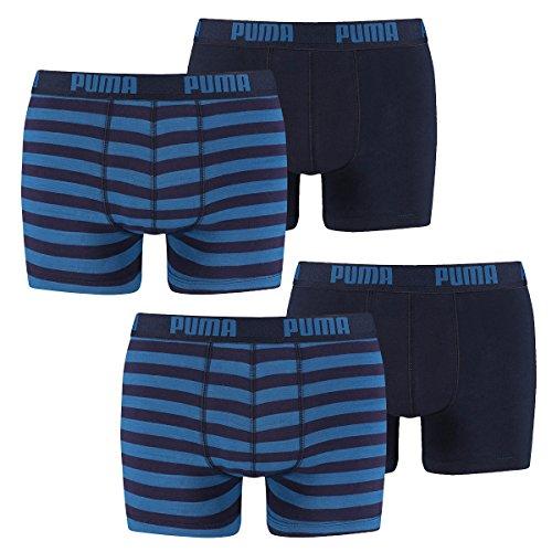 Puma Herren Boxershort Striped 1515 Boxer 4er Pack, Größe:S;Farbe:blue (056)