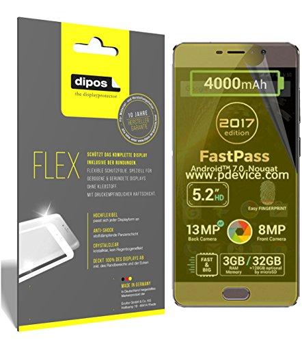 dipos I 3X Schutzfolie 100prozent kompatibel mit Allview P9 Energy Lite 2017 Folie (Vollständige Bildschirmabdeckung) Bildschirmschutzfolie