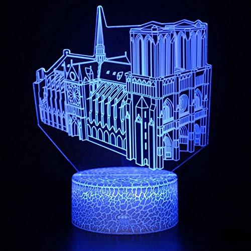 Villa modelado 3D lámpara interfaz USB atmósfera lámpara lámpara de mesa lámpara de decoración creativa lámpara de mesa de decoración de regalo de vacaciones