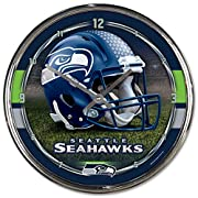 """Officially Licensed Product Quality materials used for all Wincraft products Cheer on your team with products from Wincraft and express your pride! 12"""" Round Wall Clock Bold Style Face with Metal Hands Contemporary Style Chrome plated plastic Glass l..."""