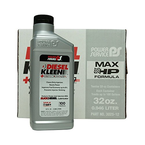 Power Service Diesel Kleen + Cetane Boost - 12/32oz. Bottles (0.375 Ounce Bottles)