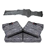 Arcturus 47' Silicone-Treated Gun Socks - Extra-Wide Rifle Socks Fit Scopes, Pistol Grips and Tactical Accessories (Gray 4-Pack)