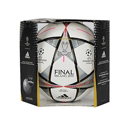 adidas Performance Ball Finale Milano OMB Balón, Hombre, Blanco - Blanco, 5