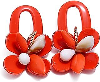 glam mod diva hippie studs party cute retro NOS 1980s Vintage ROCKER Hoop Earrings....red urban indie hoops mod girl fancy