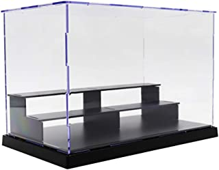 Action Figure and Doll Stand 3-Tier Dustproof Clear Acrylic Action Figure Model DIY Display Case Storage Box