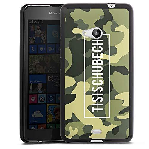 DeinDesign Silikon Hülle kompatibel mit Microsoft Lumia 535 Dual SIM Hülle schwarz Handyhülle Camouflage Tisi Schubech YouTube