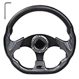 Golf Cart Steering Wheel or Adapter Fit Golf Cart Club Car EZGO Yamaha Universal Steering Wheel or Adapter for Club Car DS and Precedent (Black D Shape Design)