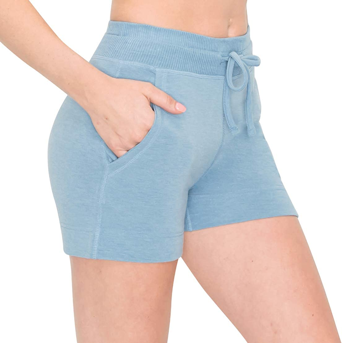 ALWAYS Women's French Terry Shorts - Casual Elastic Drawstring Lounge Pajama Shorts with Pockets