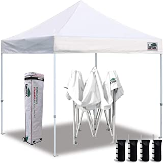 Eurmax 10'x10' Ez Pop Up Canopy Tent Commercial Instant Canopies with Heavy..