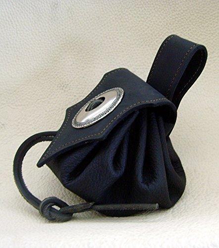 Lederbeutel Dukatenbeutel Geldkatze Farbe schwarz – schwarz - 4