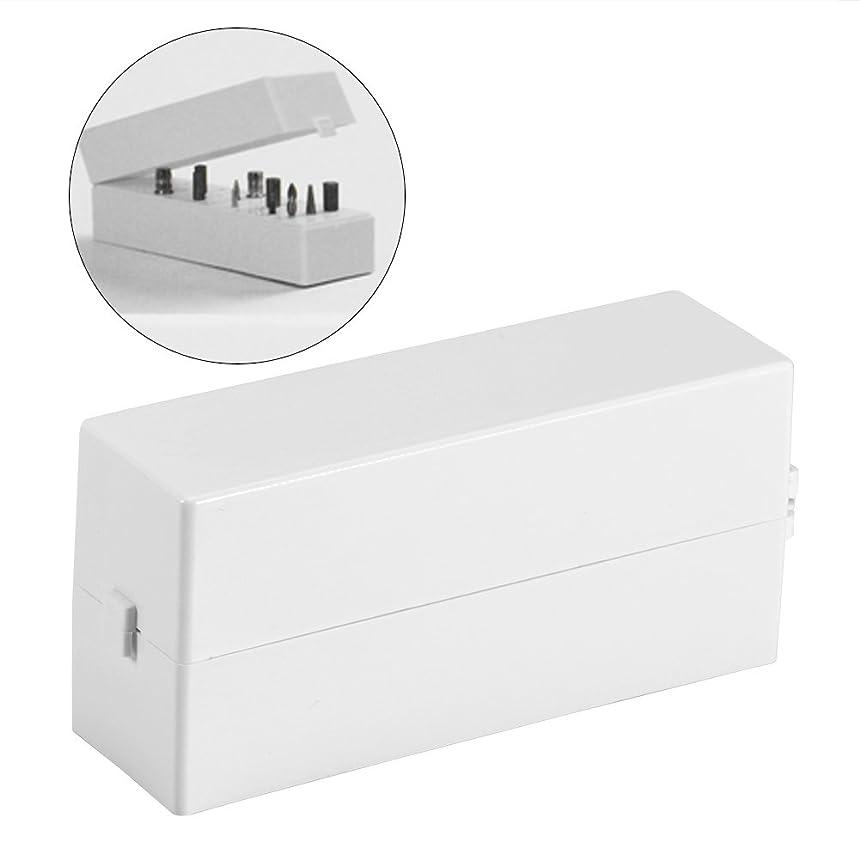 ピッチ接続詞略語ネイルドリルビットボックス 30穴 ネイルアートドリル 研削ヘッド ビットディスプレイ 収納ボックス ラックマニキュアツール