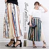 [クレット] 大きいサイズ レディース スカーフ柄配色スカート 4L-5L 05オフホワイト