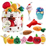 Nocciola 12 Pack Dog Squeaky Toys Cute Plush Toys for Small Medium Dog|Pet Toys|Squeaky Toys|Plush Games| Carry Bag
