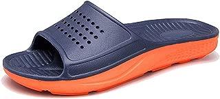 WODEBUY Men's Shower Sandals Antislip Fast Dry Flilp Flop Flats Bathroom and Gym Slider Sandals for Men