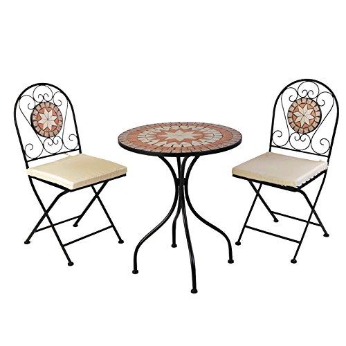 tisch stuhl set mosaik 3 teilig