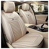 GSHWJS Funda para el asiento del automóvil de cuatro estaciones, almohadilla compatible con la funda del asiento del airbag delantero y trasero, 5 asientos, ropa de cama universal completa cubierta de