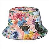 Los Sombreros de balde Respirables de Tapa Plana Spring IV Usan Gorras de Pescador de protección Solar