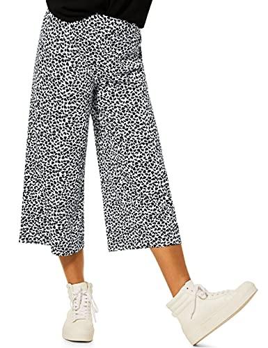 Street One Damen Culotte 34 Hose, Multicolor (Black/White) (neo Grey), W42/L22