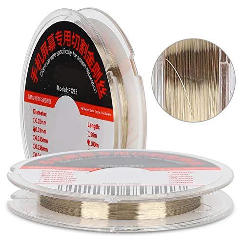 Socobeta Pantalla de teléfono Liviana Alambre Cortado Cómodo Alambre Ultrafino de aleación de Acero Fácil de Cortar Cuerpo Suave para Separador