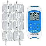 TensCare Perfect Tens+ 12 electrodos – Electroestimulador para Alivio del dolor. 2 Canales, con programas Clínicamente Comprobados para aliviar el dolor de espalda, Artritis y Lumbalgia