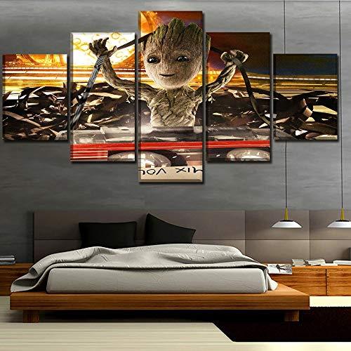 Satz von Bildern Dekoration Baby Groot Malerei Film Wächter der Galaxie Poster Wand Künstler Dekoration rahmenlose 40 * 60 40 * 80 40 * 100