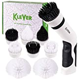 Klever Power Scrubber Brush - The Expert Kitchen & Bathroom Cleaner | Includes 8 Versatile Scrub Brushes | Cordless, Rechargeable, & Lightweight