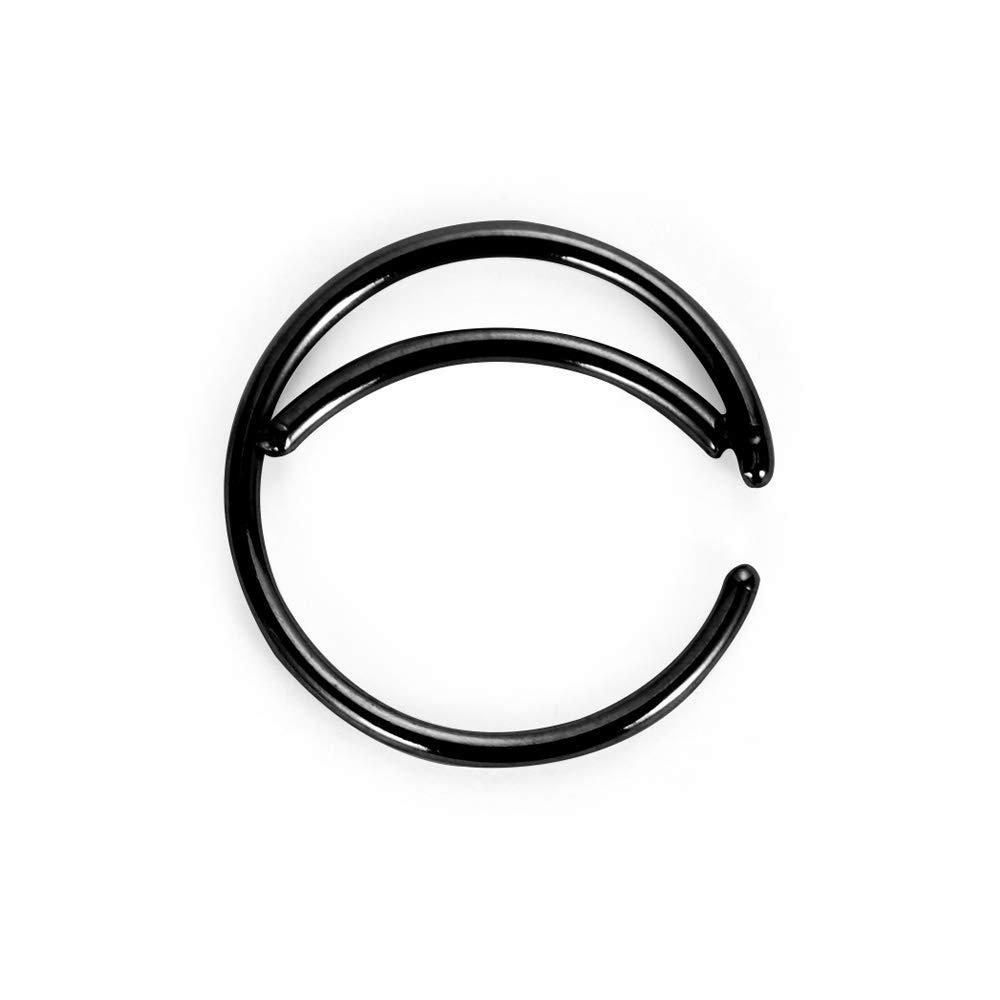 Tunsun 1pc Stainless Steel Moon Nose Ring Hoop Indian Nose Ring