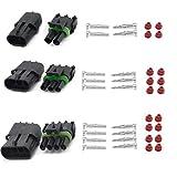 oxoxo 2+ 3+ 4pin manera impermeable eléctrico Conector 1,5mm Serie terminales termorretráctiles rápida bloqueo mazo de cables enchufes 20–14AWG