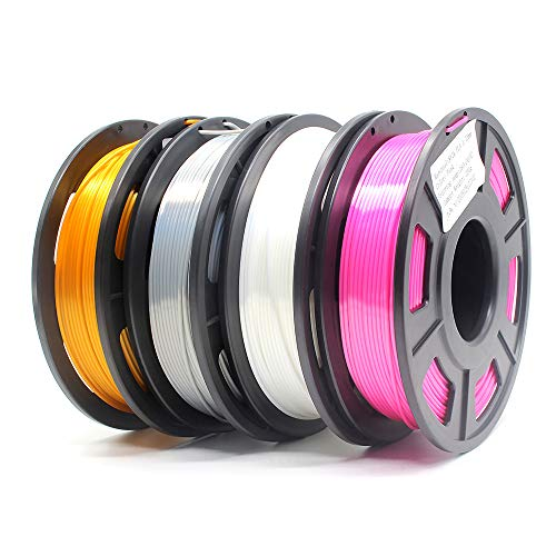 Amazon Brand-Eono Silk PLA Filamento para Impresora 3D, 1.75mm precisión 0,03 mm, 1kg, Multicolor PLA Filamento