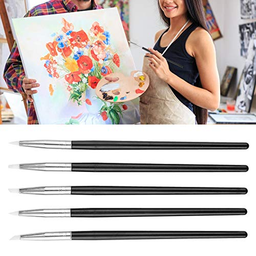 Pluma de tallado en gel para decoración de uñas de 5 piezas, tamaño ligero y compacto, para manualidades de uñas DIY, suministros para manualidades de bricolaje