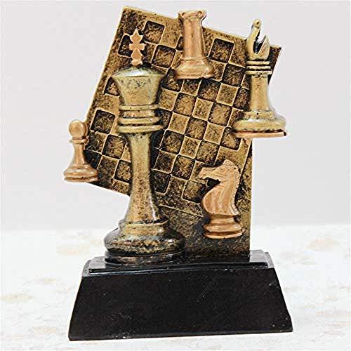 ZJN-JN Estatuas Deportes resina de ajedrez de oro trofeo conmemorativo productos de la escultura de resina del medio ambiente que viven en casa habitación de la imagen del escritorio soportar las deco