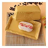 Recipiente para Mantequilla Cerámica plato rectangular mantequilla, cubierto de estilo europeo Mantequera Plato de pastelería bocado del plato, 3 colores Plato de mantequilla ( Color : Yellow )