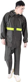Hzjundasi Night Visibility Rainsuit - Outdoor Casual Raincoat Pants Set Fishing Reflective Waterproof Windproof Rainwear