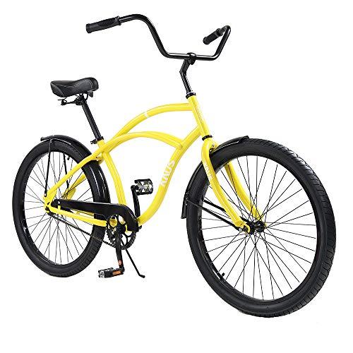 Knus Beach Cruiser Bike,26 inch Urban Single Speed Men Women