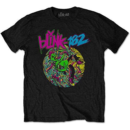 Blink 182 Offizielles T-Shirt Punk Rock Overboard Event' Logo Gr. XXL, Schwarz