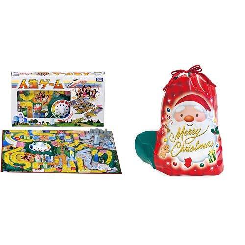 人生ゲーム + サンリオ(SANRIO) ラッピング袋 サンタソックスバッグ 3Lサイズ A H10104