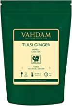 VAHDAM, Tulsi Ginger Herbal Tea (50 Cups) | STRESS RELIEVING & REFRESHING | Masala Chai Tea | Delicious Blend Of Ginger Tea & Tulsi Tea | Spiced Chai Tea Loose Leaf | Brew As Hot or Iced Tea | 3.53oz