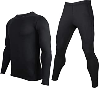 AXBXCX Men's Thermal Underwear Base Layers Tight Long Johns Tops & Pants Set