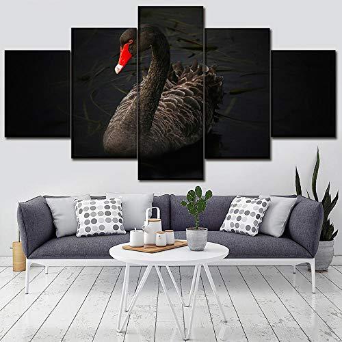 Rkmaster-Artwork Poster HD Prints Home Decoration 5 dieren muurkunst Swan Modular kinderkamer Cuadros fotolijst canvas schilderij