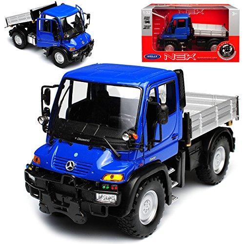 Welly Mercedes-Benz Unimog U400 Blau LKW Truck 1/32 Modell Auto
