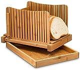 Bandeja multifuncional para cortar pan, plegable compacta con bandeja para migas Funciona Cortador de pan Instrucciones de corte Cortador de pan de madera para pan casero (sin cuchillos)