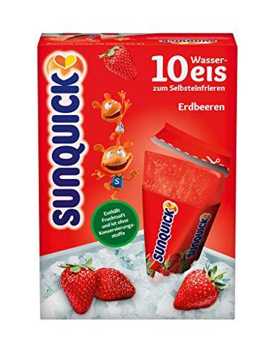 Sunquick Wassereis, Erdbeere 10er, 650 g