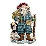 Penguin Santa Beaded Counted Cross Stitch Ornament Kit Mill Hill 2020 Antarctic Santas MH202031