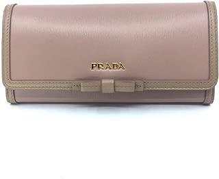 Women's Snap Closure Wallet Cammeo Beige Detachable ID Card 1MH132