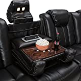 Seatcraft Omega Home Theater Seating - Leather Gel - Power Recline - Power Headrests - AC and USB Charging - Lighted Cup Holders - Fold Down Table