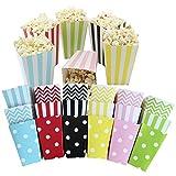 Lezed Scatole Popcorn Contenitori di Carta Commestibile Popcorn Box (36 Pezzi)