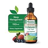 Adrien Gagnon - Liquid Melatonin 3mg, Vegan Melatonin Drops for Calm Sleep Support, Wildberry Flavor, 110 ml Dropper