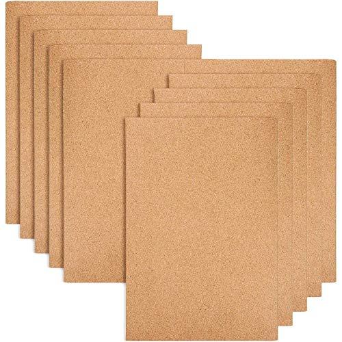 Paquete de 10 cuadernos de viaje rayados con tapas de papel kraft marrón, tamaño A5, 80 páginas con rayas/40 hojas